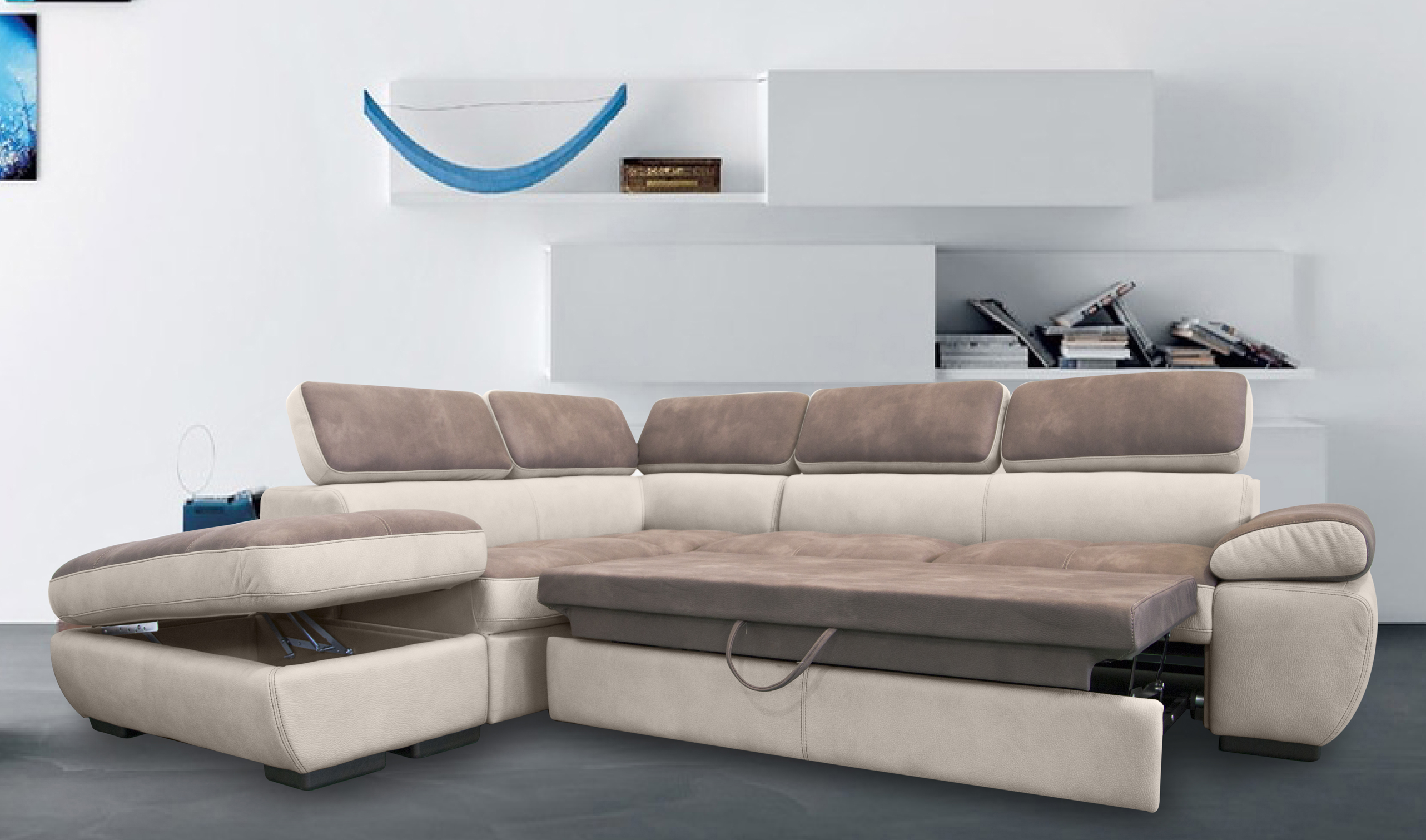 Awesome divano letto angolare offerta gallery for Outlet casa
