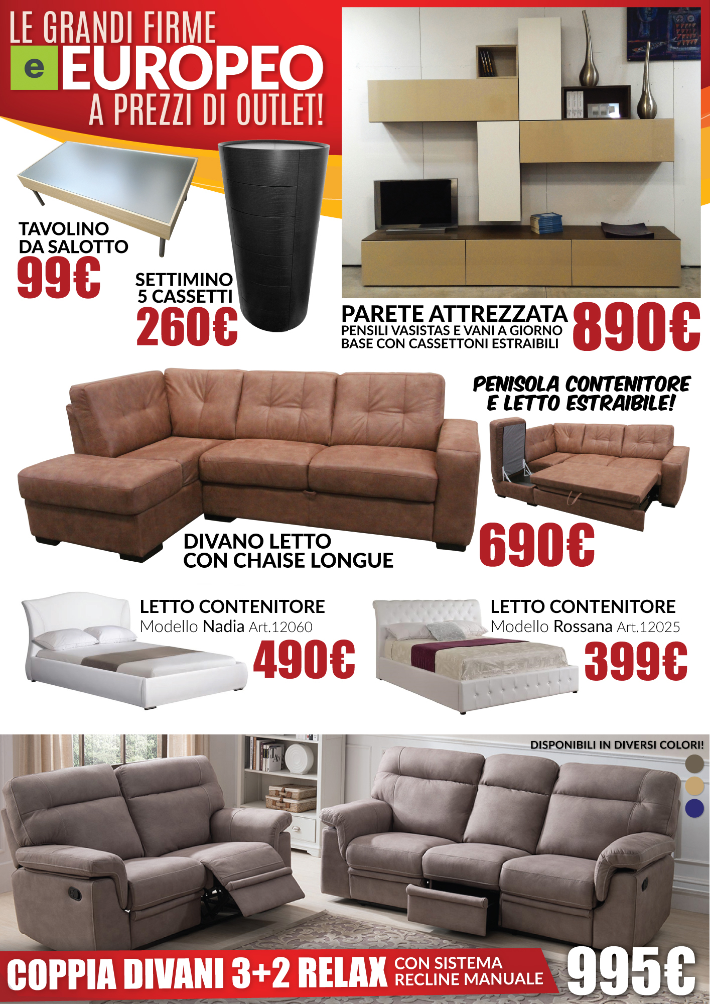 NUOVO VOLANTINO OUTLET - Dolce Casa Outlet